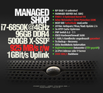 MANAGED.SHOP, i7-6850K, 500GB SSD@925MB/s, 96GB RAM DDR4, X-Optimized, NGINX-PRO Support